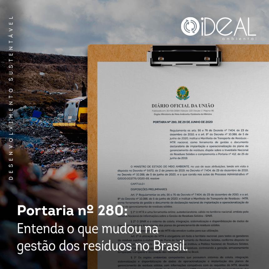 A NOVA PORTARIA 280 DO MMA